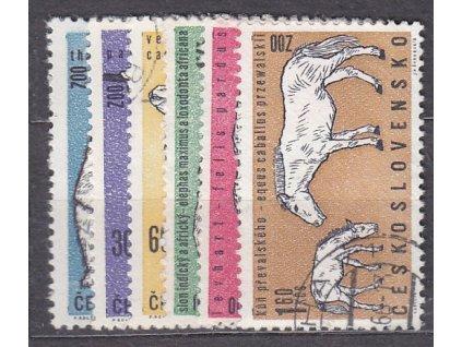 20h-1.60Kčs Zvířata ZOO, série, Nr.1247-52, razítkované, ilustrační foto
