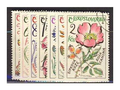 1965, 30h-2Kčs série Léčivé rostliny, Nr.1489-95, razítkované, ilustrační foto