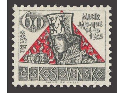 1965, 60h Mistr Jan Hus, VV - tečka nad K, Nr.1464, **