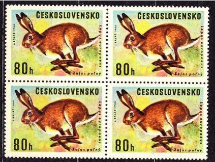 1966, 80h Zajíc, 4blok s ST I+II, 2krát, Nr.ST1570