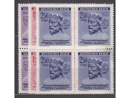 1943, 60h-2.50K Zimní pomoc, série, 4bloky, **