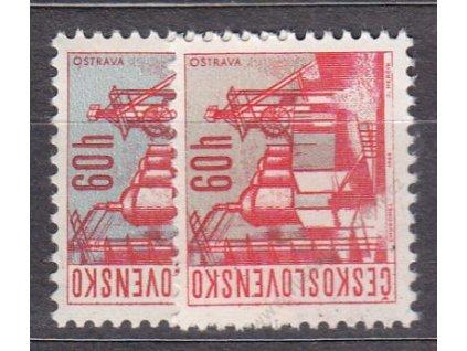60h Čs města, 2 ks - odstíny pozadí, Nr.1565, **