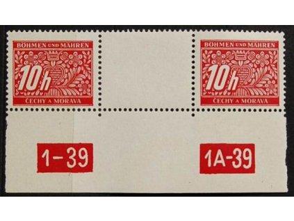 1939, 10h doplatní, meziarší s DČ1-39