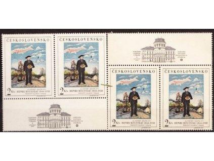 1967, 2Kčs H.Roussenau, horní a dolní kupon, Nr.1624, **