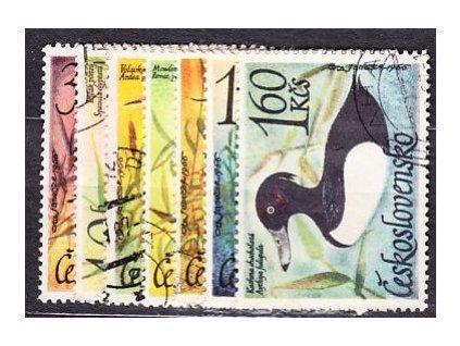 1967, 30h-1.60Kčs Vodní ptactvo, série, razítko