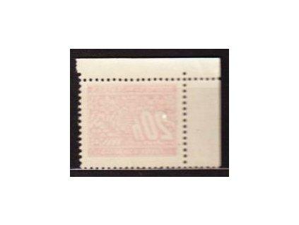 1939, 20h červená, obtisk, rohový kus, DL3