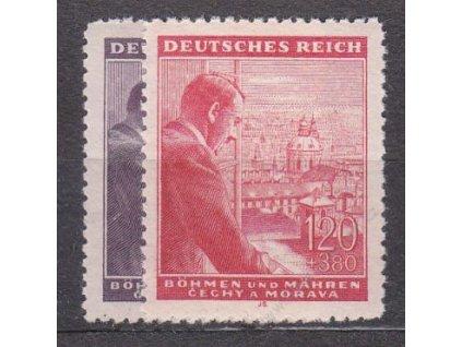 1943, 60h-1.20K Hitler, série, Nr.106-7, **