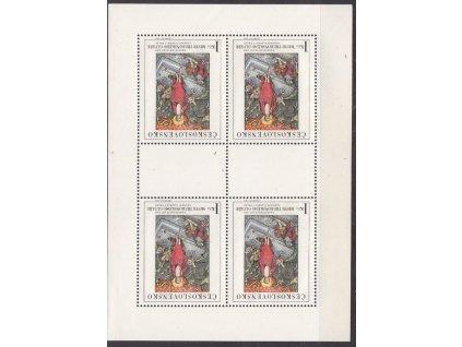 1969, 1Kčs Umění, PL, DV na ZP2 - čára u rakve, Nr.PL1799, **
