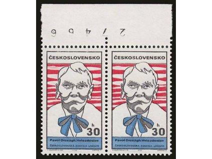 1969, 30h Hviezdoslav, otočené číslo, Nr.1768, **