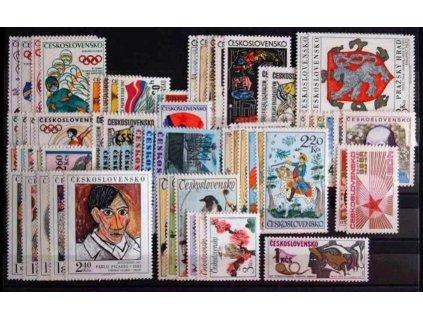 1972, kompletní ročník výplatních známek, ** , ilustrační foto