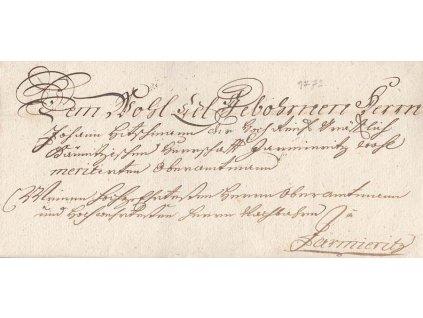1772, šlechtický dopis z období Marie Terezie, bez obsahu