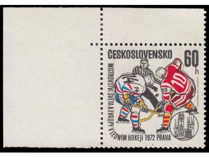 1972, 60h MS v hokeji, VV - skvrna u hlavy rozhodčího, Nr.1953, **