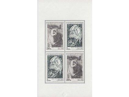1973, PL - Švabinský, DV - čárka za S, Nr.PL2050/2051, **
