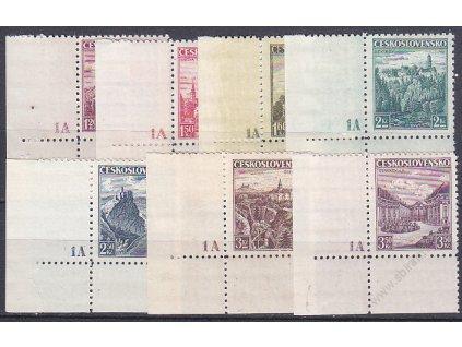1.20-3.50Kč Krajinky, roh. kusy s DČ 1A - široký okraj, Nr.304-10, **/*
