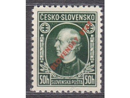 1939, 50h Hlinka, Řz.10 1/2, Nr.23, **