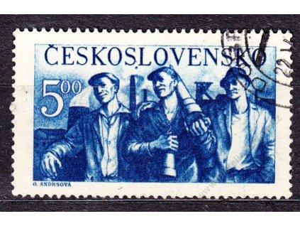 1950, 5Kčs Dělníci, DV - tečka pod &quot!SL&quot!  SLOV