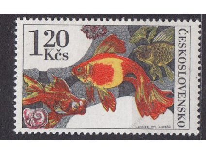 1.20Kčs Ryby, DV - skvrna v mušli, ZP2/2, Nr.2144