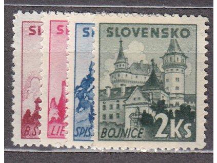 1941, 1.20-2Ks Slovenské hrady a zámky, série, Nr.52-5, **, ilustrační foto