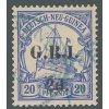 Neu Guinea, Britische Besetzung, 1914, 2d/20Pf Lodička, razítko