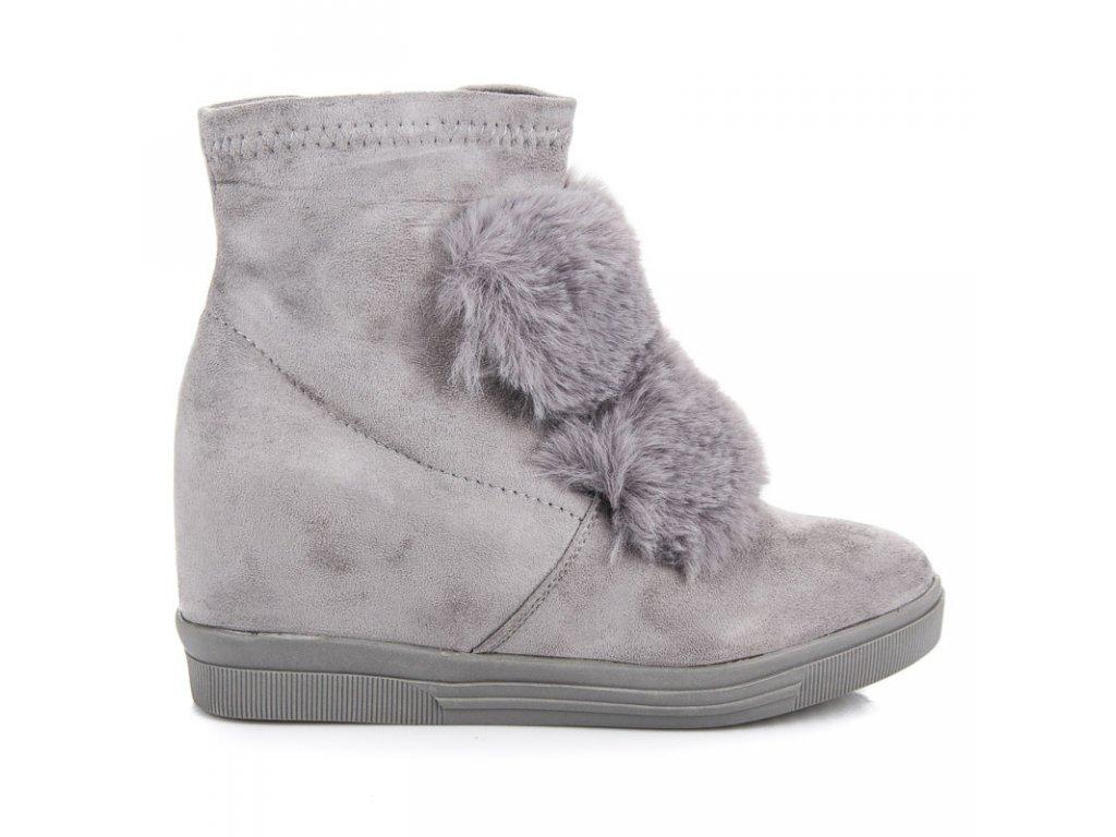 Kotníkové boty na klínku