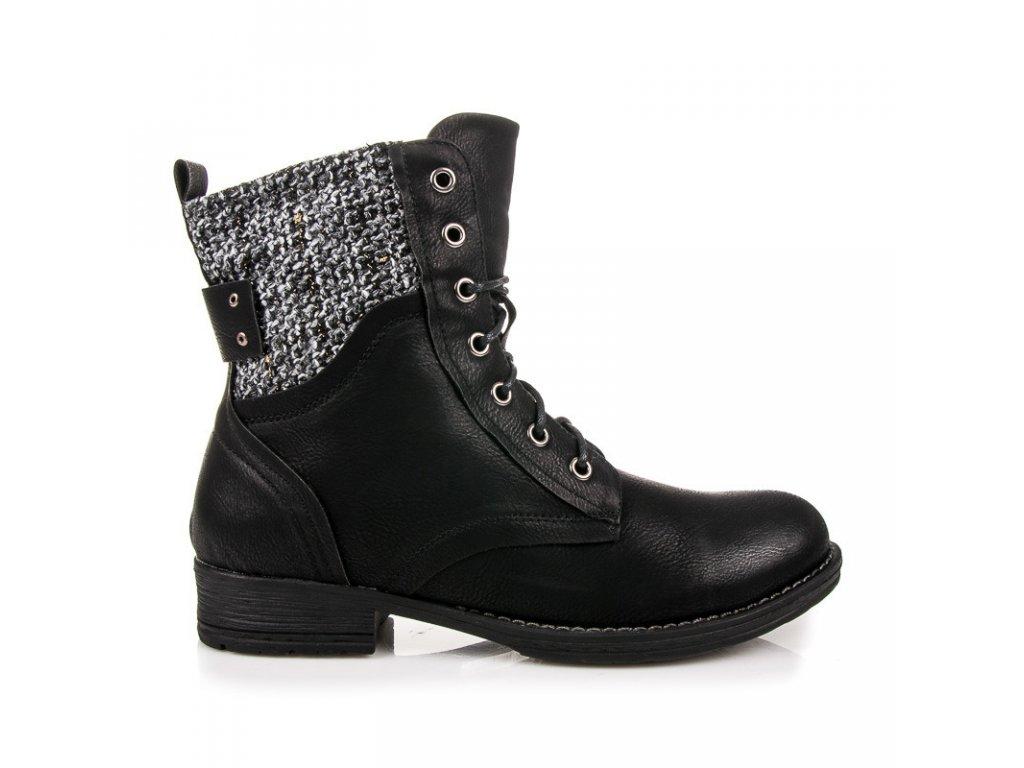 Kotníkové boty bez podpatku