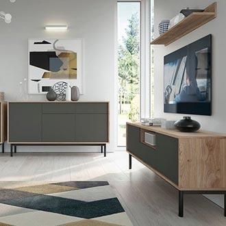Obývací stěna ve skandinávském stylu inspirace