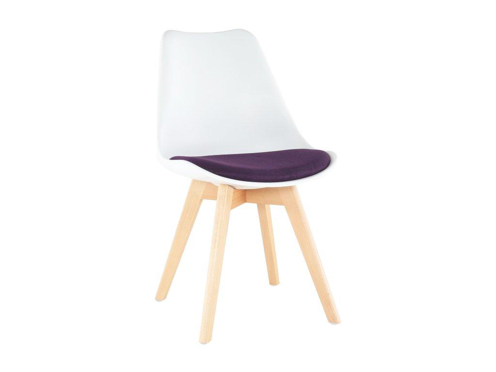 Bílo-fialová židle DAMARA