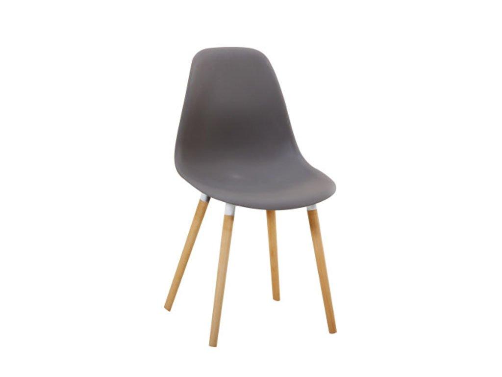 Šedá plastová židle KALISA