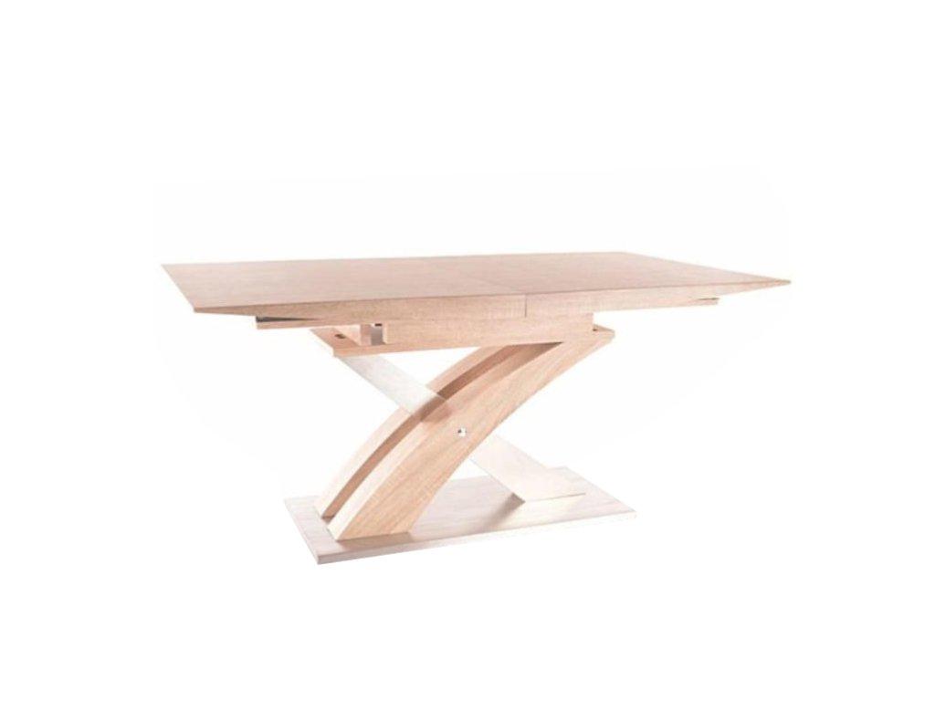 Jídelní stůl s deskou v dekoru dub BONET, rozkládací