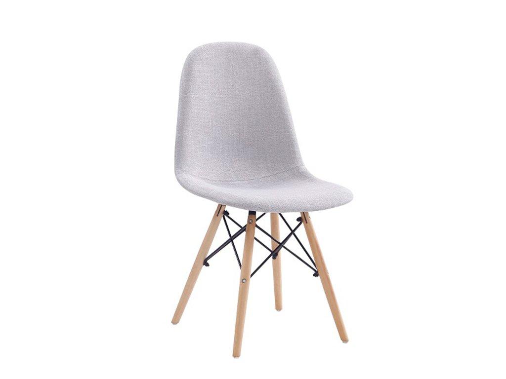 Světle šedá jídelní židle DARELA NEW