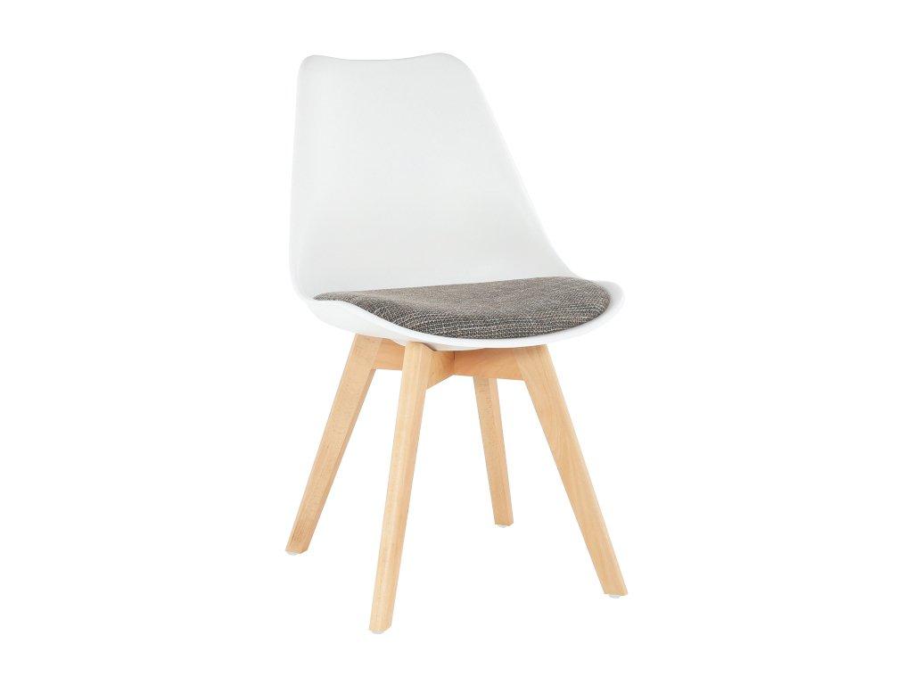 Židle, bílá / hnědá, DAMARA