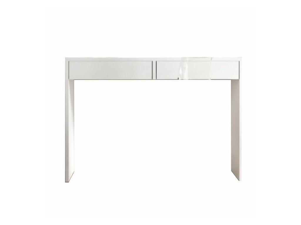 Bílý toaletní stolek / psací stůl VIOLET