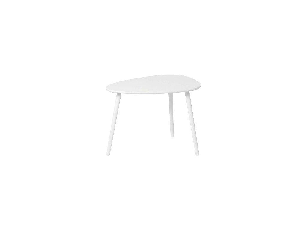 Bílý příruční stolek DANZ