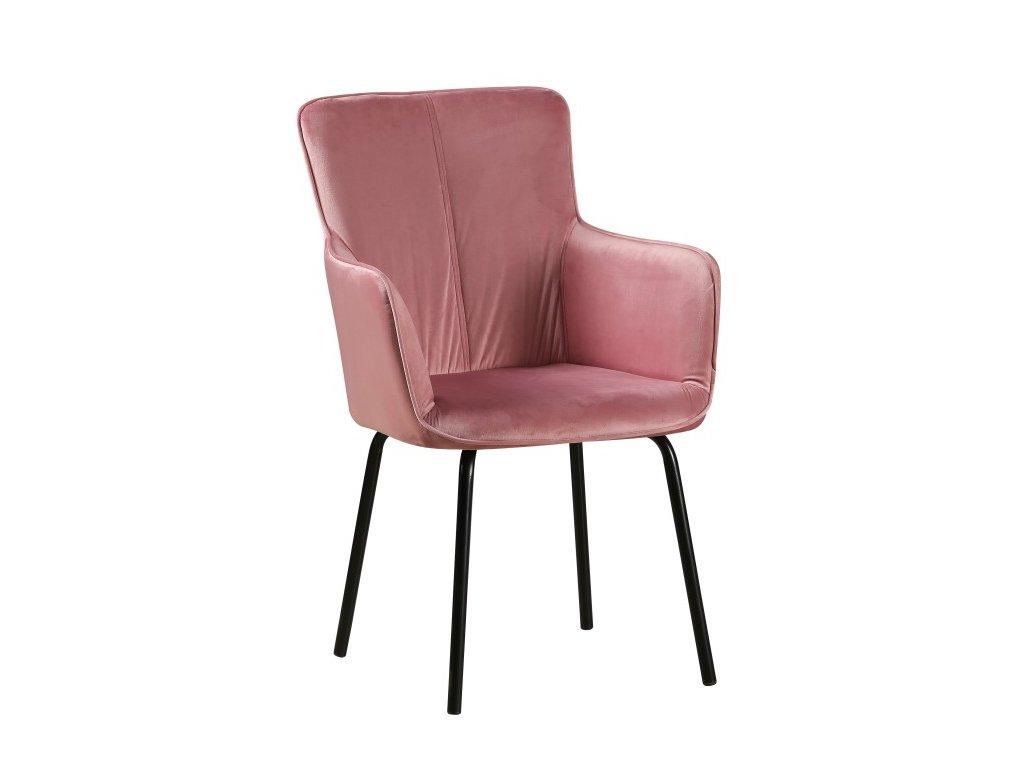 Designové křeslo, růžová / černá, VETAR