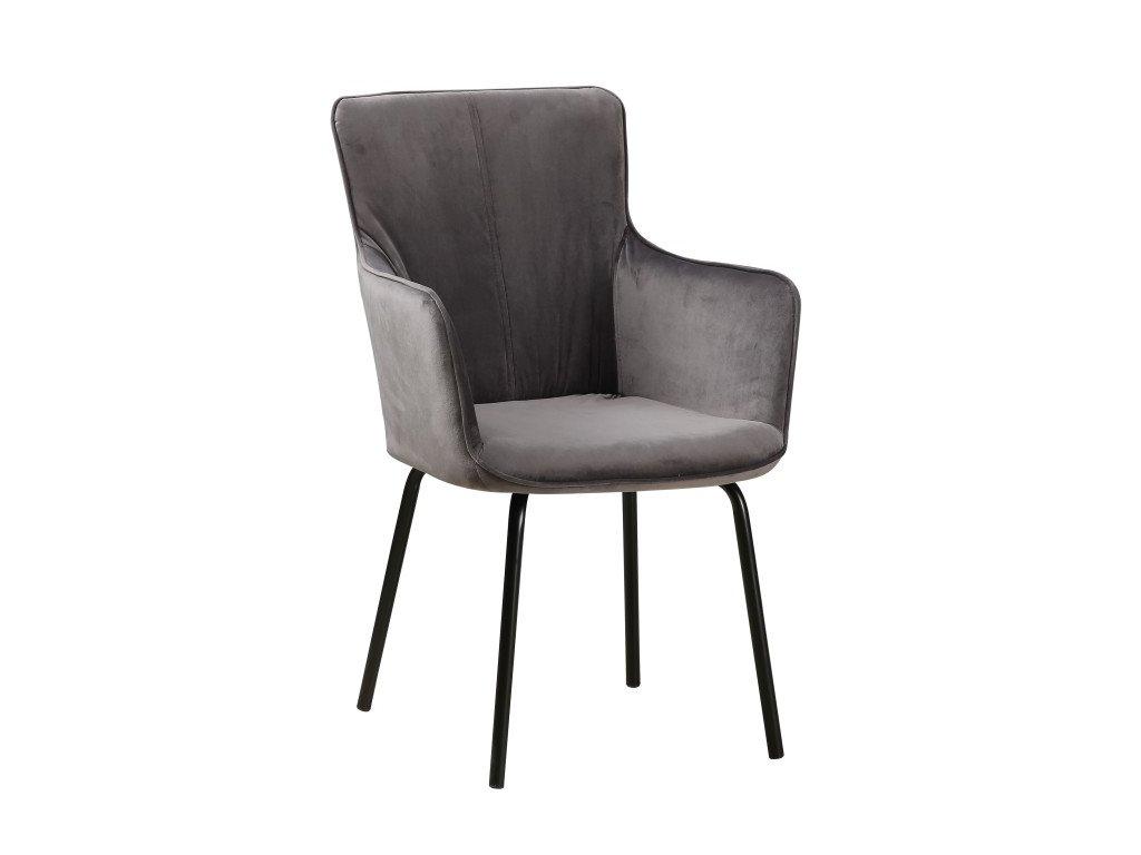 Designové křeslo, šedá / černá, VETAR
