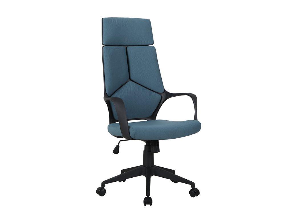 Kancelářská židle, modrá / černá, BAKARI