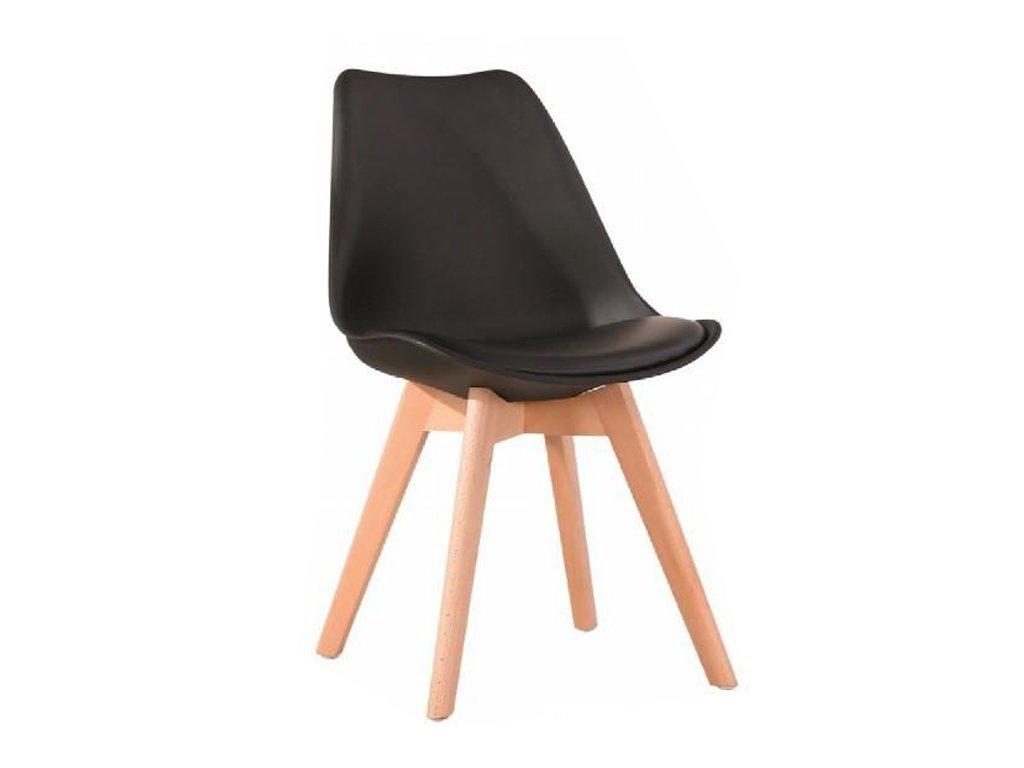 Židle, černá / buk, BALI  2 NEW