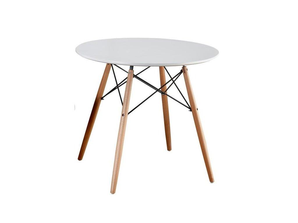 Bílý jídelní stůl GAMIN NEW 90