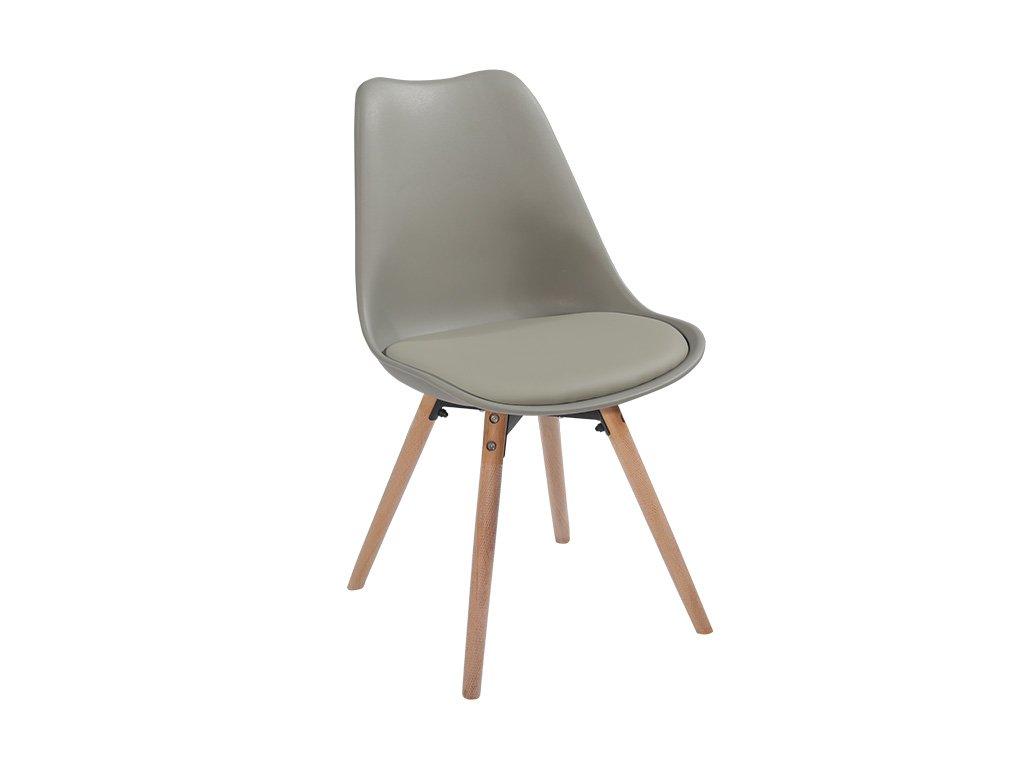Světle šedá židle SEMER NEW
