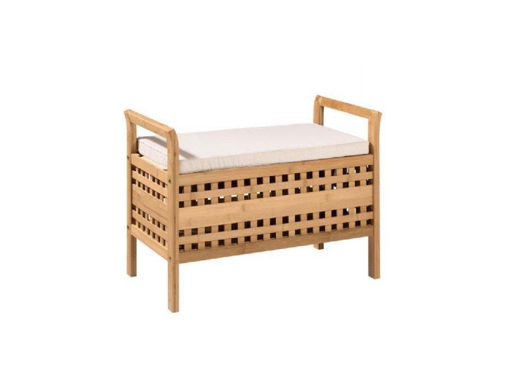Lavice, béžová / přírodní bambus, TOLOSA