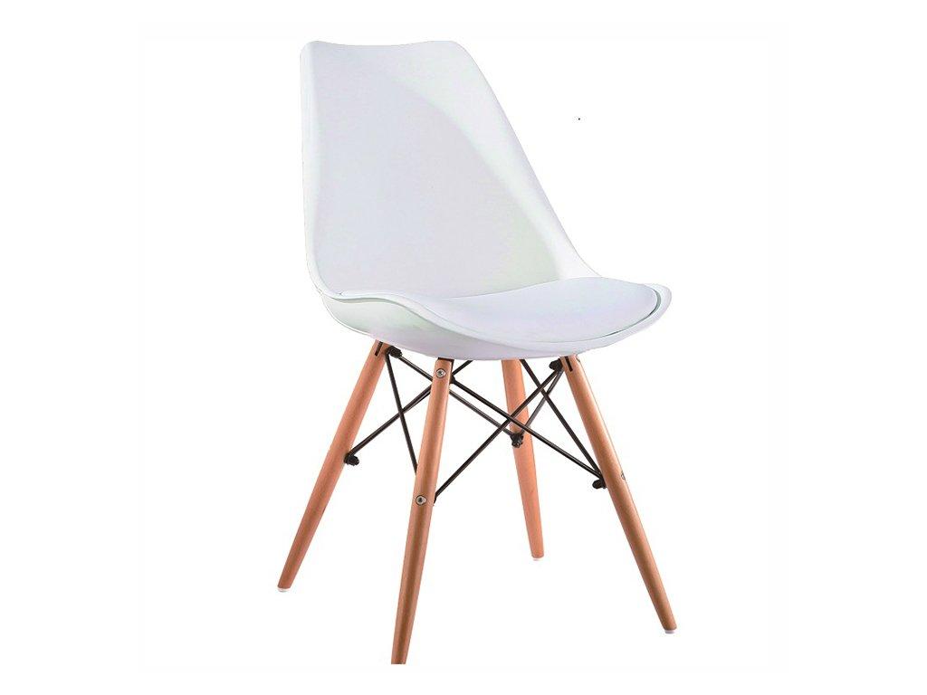 Bílá židle KEMAL NEW
