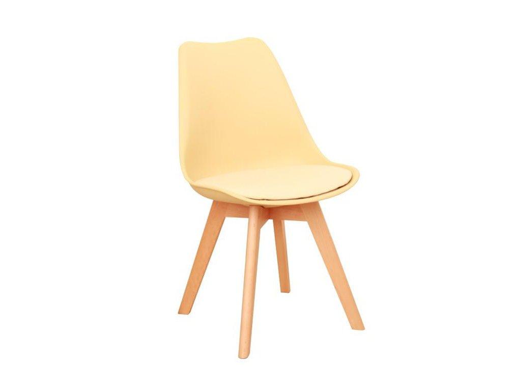 Židle BALI 2 NEW v barvě cappuccino vanilková