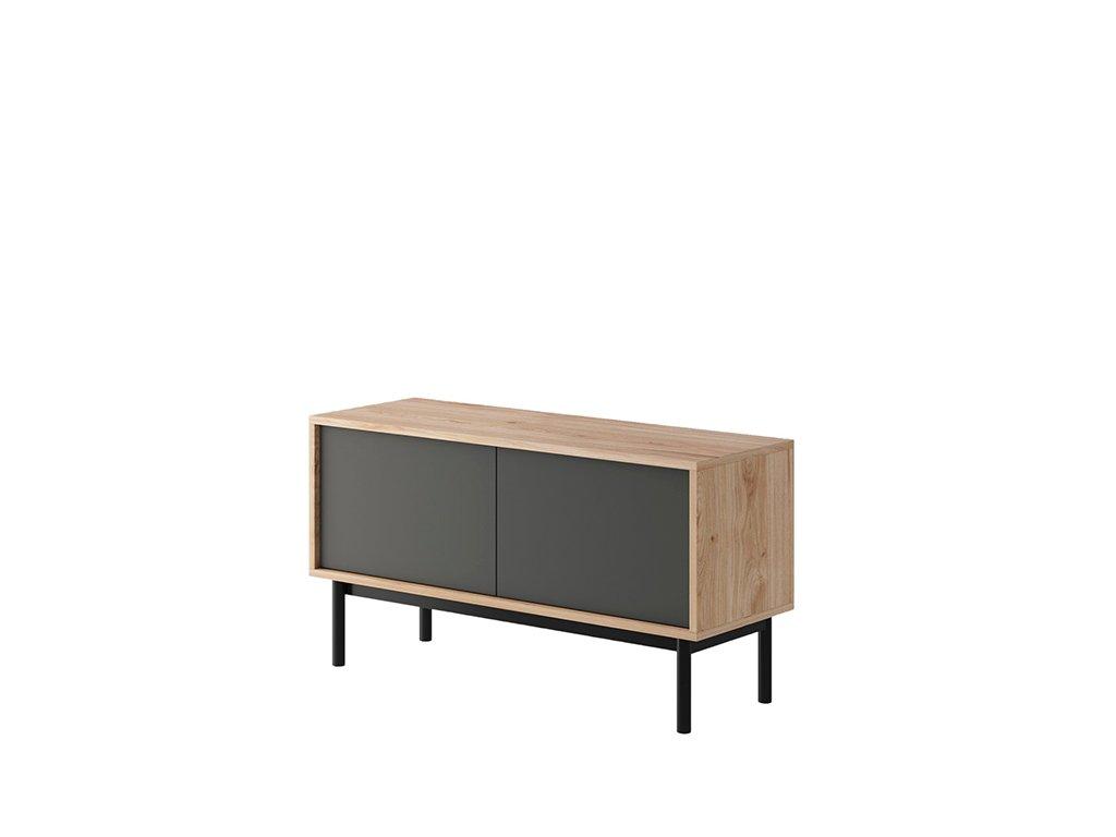 RTV stolek, dub jaskson hickory / grafit, BERGEN BRTV104