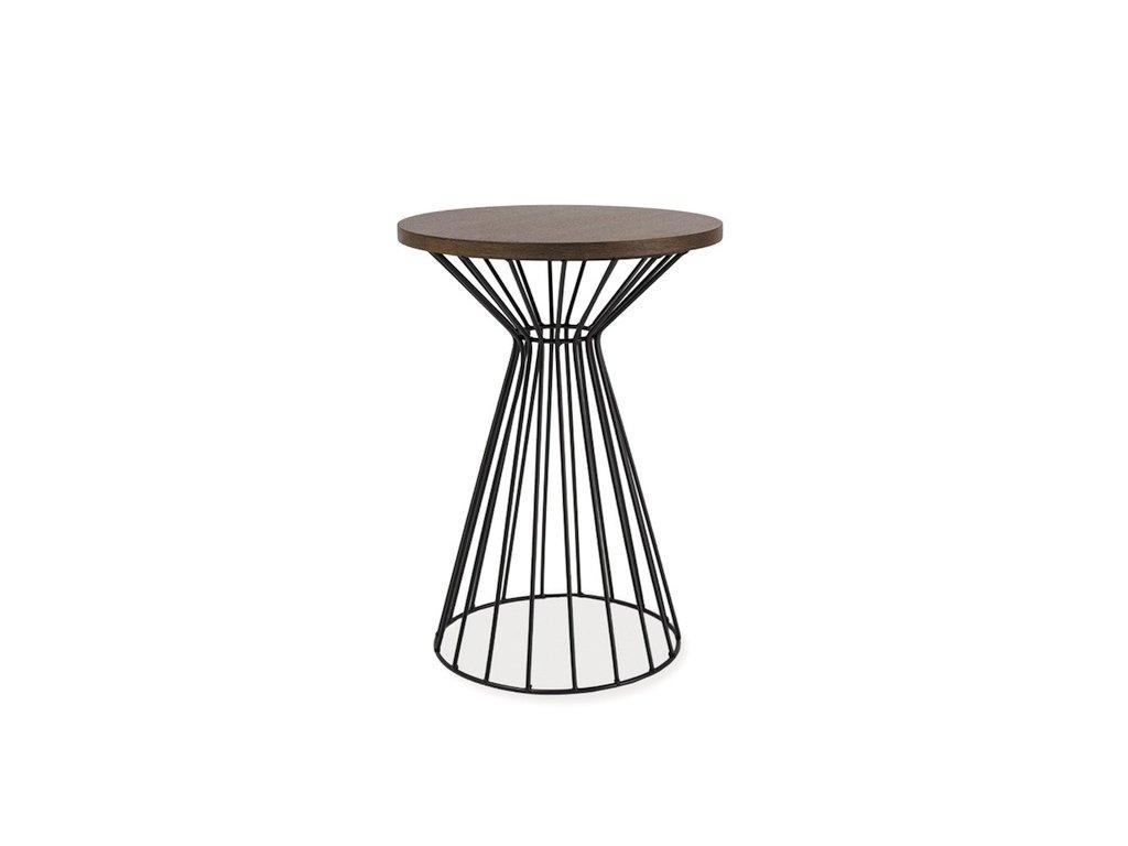 Příruční stolek, tmavý ořech / černá, ALTA II