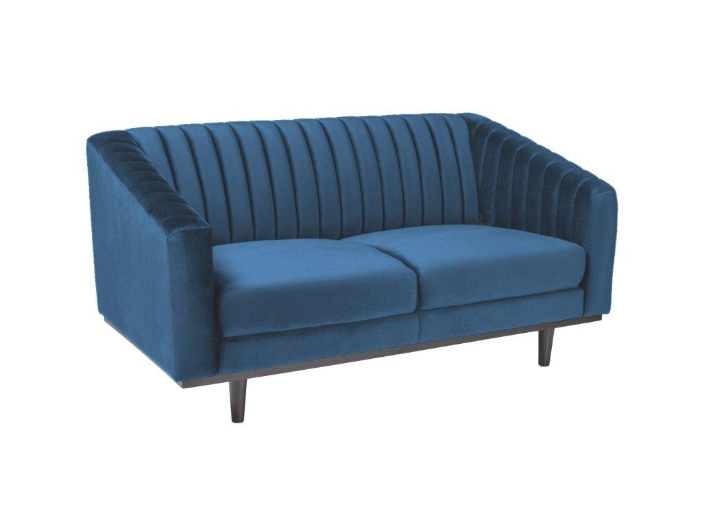 Modrá 2 místná pohovka ASPREY 2 VELVET