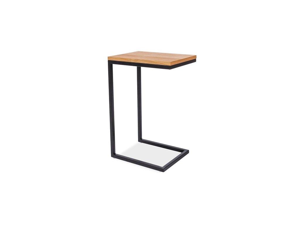 Příruční stolek, dub / černá, LARGO C 30X40