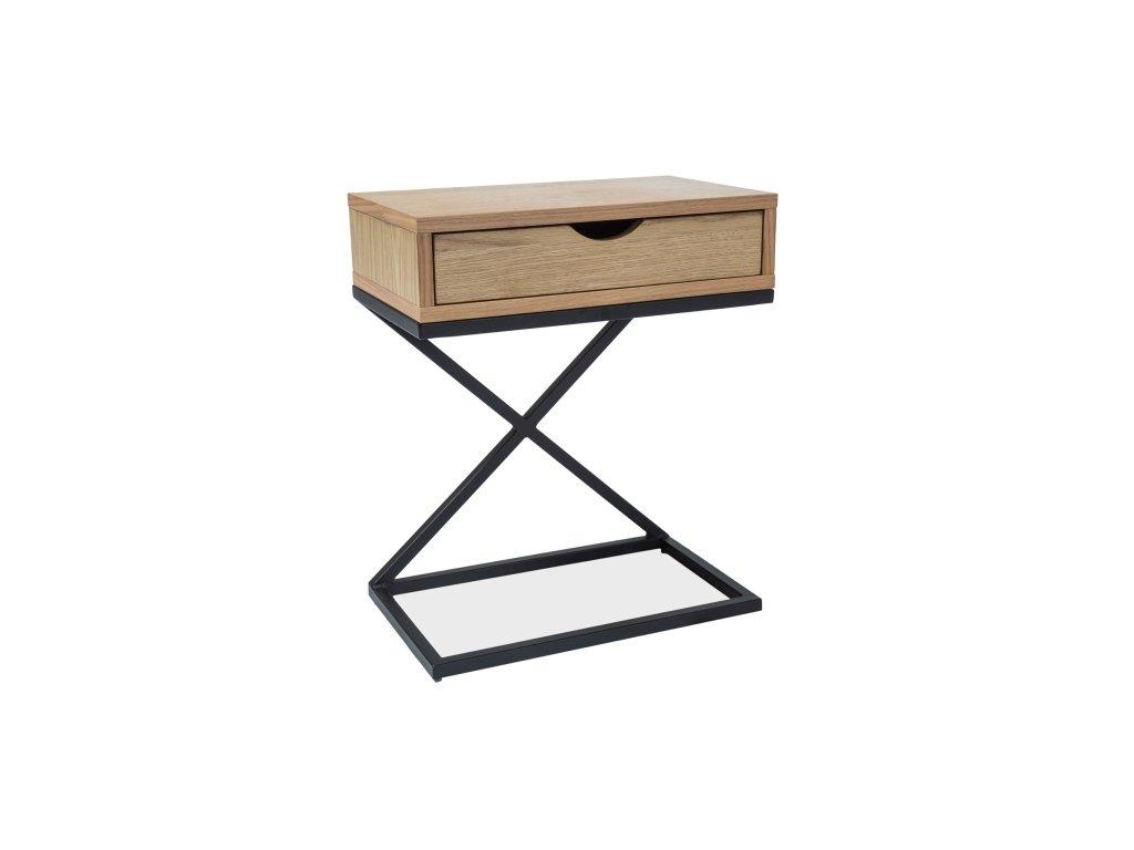 Příruční stolek s deskou v dekoru dub LIZ I 30X50
