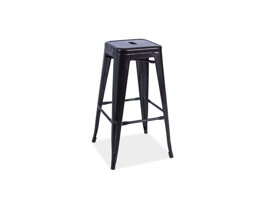 Barová stolička, černá, HOKER LONG