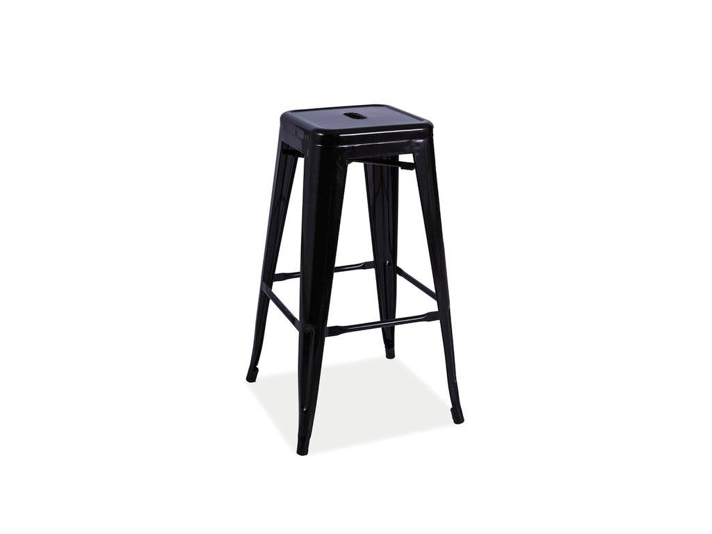 Černá barová stolička HOKER LONG