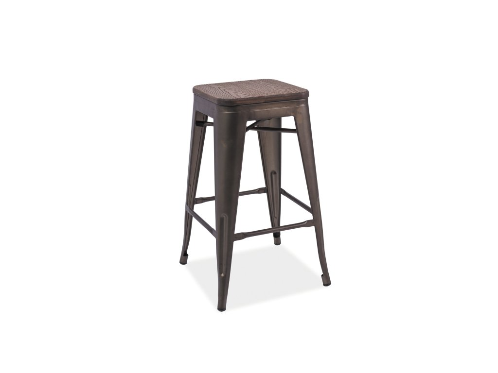 Barová stolička, tmavý ořech / grafit, HOKER LONG
